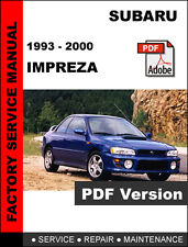 SUBARU IMPREZA 1993 1994 1995 1996 1997 1998 1999 2000 SERVICE REPAIR FSM MANUAL