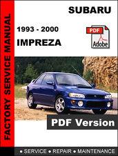 SUBARU IMPREZA 1993 1994 1995 1996 1997 1998 1999 2000 SERVICE REPAIR FSM MANUAL