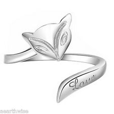SILVER FOX LOVE RING ADJUSTABLE Wicca Witch Pagan Goth Yoga GREAT GIFT IDEA