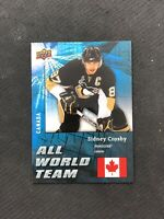 2009-10 UPPER DECK SERIES ONE SIDNEY CROSBY ALL WORLD TEAM CANADA SP #AW-32
