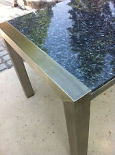 Gartentisch Outdoor-Tisch Esstisch Küchentisch 200x100 Steinplatte + Edelstahl