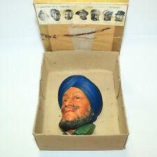 Gorgeous Bossons Vtg Chalkware Head Legend Congleton England - Sikh #43 w Box