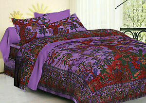 Handmade Quilt Cover Duvet Doona Cover Indian Mandala Bohemian Queen Bedding Set