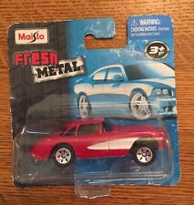 "MAISTO 2009 Fresh Metal 3"" Die-Cast - 1957 57' Chevrolet Chevy Corvette, NIP"