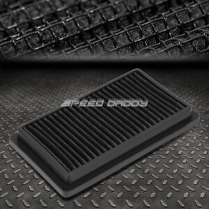 FOR 09-14 NISSAN VERSA/CUBE BLACK REUSABLE&WASHABLE HIGH FLOW DROP IN AIR FILTER