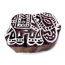 Ethnic Elephant Animal Design Wood Stamp Printing Art Texile Stamp Pottery Stamp