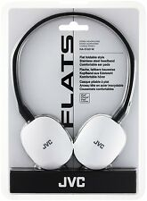 JVC Flats Foldable Style Headphones WHITE HA-S160-W-E BRAND NEW FREE UK DELIVERY
