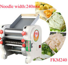 220V Electric Pasta Maker Noodles Width 240mm Roller Machine Home Commercial
