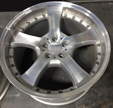 LORINSER LM6 2 Pc 20 X 11 ET 38 5:112 Silver Used One Wheel Only