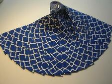 "Jelly Roll-Royal W/White Design-Novelty Fabric-20-2-1/2"" x 43"" Strips-Quatrefoil"