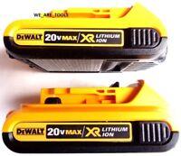 (2) New GENUINE Dewalt 20V DCB203 2.0 AH MAX XR Batteries 20 Volt For Drill, Saw