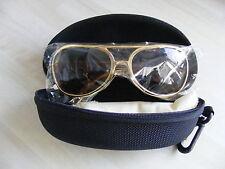 Elvis Style Economy Gold Sunglasses, Dark Lens