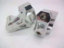 22.2mm 7/8th CNC Pivoting Handlebar Bar Risers Silver Vegas RP Verseys Vstrom
