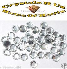 144 ss40 CLEAR iron-on hotfix rhinestone crystal stone