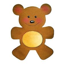 Sizzix Bigz Teddy Bear die #A10188 Retail $19.99 SO SWEET!  Cuts Fabric!!