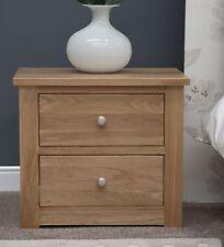 Kingston Solid Oak Bedroom Furniture Two Drawer Narrow Bedside Cabinet