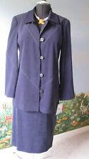 Leslie Fay Purple Women Long Sleeve Velvety Fabric Suit Size 10 New