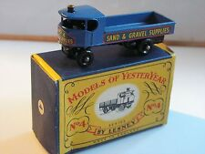 MATCHBOX N°4 SENTINEL STEAM WAGON schwarze Räder roue noire black wheel