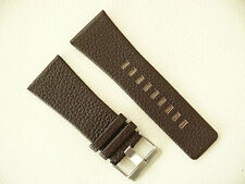 Herren Uhrenarmband Echtleder 32 mm Dunkelbraun für DIESEL Uhren DZ 7248 usw.