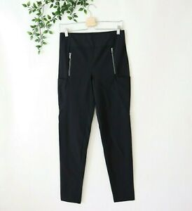 Athleta Women's Zip Pockets Fitted Athletic Pants Size 8T Tall Black