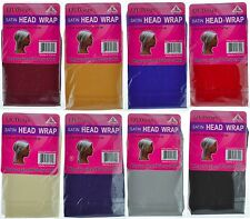 62- SATIN Head Wrap Scarf Hair Protection Assorted colors
