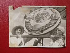 VINTAGE SOVIET PHOTO 1950's USSR URSS SOVIET PARADE in ORENBURG. СССР ЧКАЛОВСК.