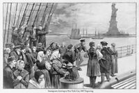 Immigrants Arriving In New York City Statue Of Liberty 1887 Poster 18x12