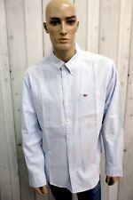 RALPH LAUREN Man Camicia Taglia 2XL Cotone Chemise Shirt Casual Manica Lunga