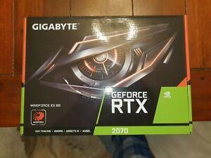 GIGABYTE GeForce RTX 2070 Windforce 2X 8GB GDDR6 Graphics Card (GV-N2070WF2-8GD