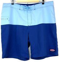 Vineyard Vines Mens Swim Trunks Board Shorts Size 40 Light Blue Blue Block New
