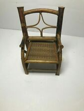 Vintage Doll Furniture Chair Wood (Bamboo?) (A042)