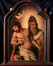 16th CENTURY HUGE FLEMISH OLD MASTER OIL ON PANEL - THE HOLY TRINITY