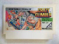 Nintendo Famicom Crazy Climber Nichibutsu Action Game Tested Cleaned Japan