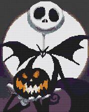 Nightmare Before Christmas 9 Counted Cross Stitch Kit Halloween/Jack & Sally