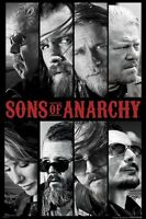 SONS OF ANARCHY ~ 8 CHARACTER PICS 24x36 TV POSTER Charlie Hunnam Motorcycle