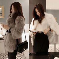 Manteau elegante cheveux Chic Avec ceinture Faux Fourrure Hiver Chaud Manteau