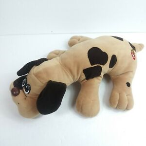 "1985 Vintage Tonka Pound Puppies Biege Tan Brown Spots Spotted Plush Pup 16"""