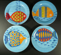 PIER 1 IMPORTS Fish Plates Sea Life 8 3/4 Dinner or Salad Plates