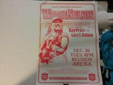 Willie Nelson Dec 30 1980 Dallas Holiday Concert Poster Nmint Rare Clean Htf Vtg