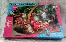 E-Z Grip 300 Piece Curious Kittens Puzzle MasterPieces Yuan Lee  Sealed B49