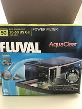 FLUVAL 50 AQUACLEAR 20-50 GAL 200 GPH POWER AQUARIUM FILTER OPEN BOX