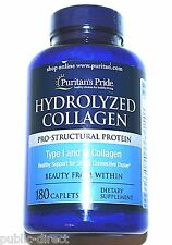 4000mg Hydrolyzed Collagen 180 Caplets Hair Skin Nail Care Anti-Aging Pill 1000