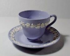 Wedgwood QUEENSWARE Cream on Lavender Demitasse Cup(s) & Saucer(s)   EXCELLENT