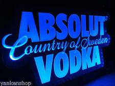 "Ld003 Absolut Vodka Beer Bar Pub Shop Display Led Light Acrylic Sign 12.5""x7.25"""