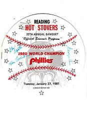 1981 Official Souvenir Program for Reading Hot Stovers 20th Annual Banquet