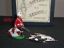 LITTLE LEGION ZULU WAR BRITISH 24TH FOOT PRIVATE + SHIELDS METAL TOY SOLDIER SET