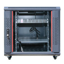 "12U 35"" Depth Server 19"" IT Enclosure Cabinet Box FITS MOST SERVERS FREE BONUS!"