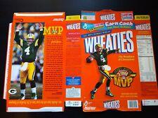 Brett Favre 3-Time MVP WHEATIES Cereal Box NFL Green Bay Packers
