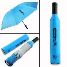 Wine Bottle Shape 3 Fold Manual Sunny Rainy Umbrella (Assorted Color)