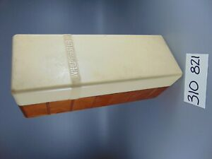 VINTAGE ORIGINAL SAWYERS BELGIUM VIEW-MASTER VIEWMASTER STORAGE BOX + 1957 LIST